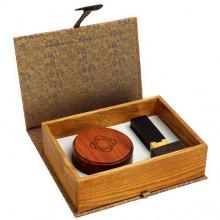 红木中号印章、印泥盒二件套