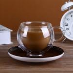 欧式高档双层玻璃咖啡杯