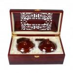 窑变陶瓷茶叶密封罐木质礼盒