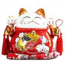 招财猫 陶瓷摆件 存钱罐