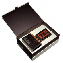 高档笔筒+便签盒 红木2件套