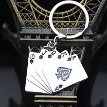 扑克牌钥匙扣