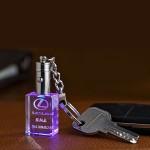 水晶钥匙扣定制 内雕发光钥匙扣