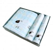 浴巾2条+面巾2条