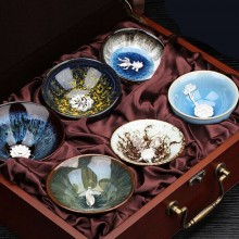 陶瓷镶嵌纯银茶杯