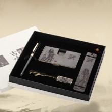 名片盒+笔+书签套装