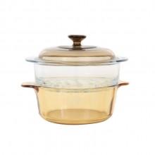 晶彩透明锅带蒸格