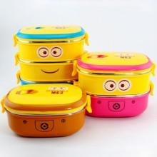小黄人保温饭盒