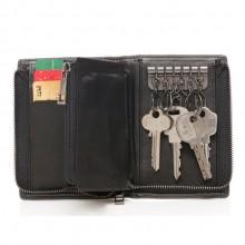 定制真皮零钱包钥匙包