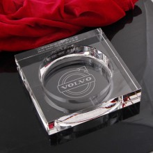 VOLVO定制版汽车烟灰缸 办公水晶烟灰缸