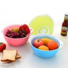 定制logo  双层果蔬筛 滴水箩 蔬菜水果沥水篮