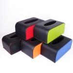 定制皮革纸巾盒  PU皮革纸巾盒