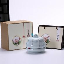 高档茶叶罐  陶瓷茶叶罐八两装