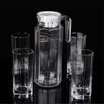 透明玻璃凉水壶 水杯 茶具五件套