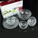 高档钻石碗盘六件套 玻璃碗 沙拉碗果盘