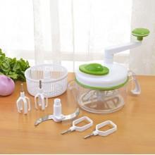 家居礼品 多功能切菜器家用手动手摇蔬菜碎菜器绞肉机 可印logo