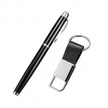 高档签字笔广告钥匙扣二件套商务套装