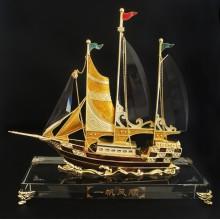 创意水晶帆船摆件桌面摆件