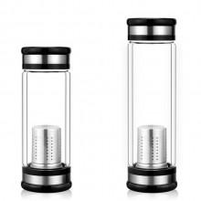 男士商务水杯双层玻璃杯广告礼品杯子定制