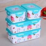 紫阳花保鲜盒三件套(方型)
