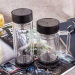 双层商务杯 办公杯 便携玻璃杯 可定制LOGO