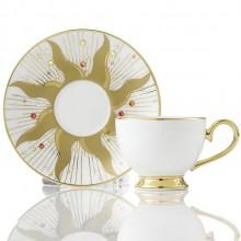 高档精致咖啡杯精选礼品太阳花杯碟套装
