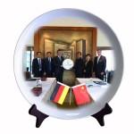商务礼品  会议礼品 陶瓷盘摆件 政府会议礼品定制