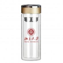 茶杯 双层玻璃杯 广告杯 北京大学定制案例
