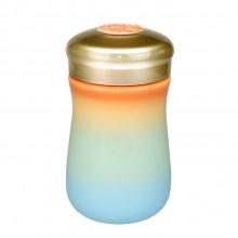 彩虹单层陶瓷杯随行杯商务办公杯