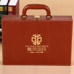 嘉南国际定制案例   高档交房盒  PU交房箱