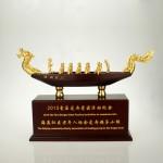 政府定制案例 龙舟模型摆件 金属纪念摆件定制