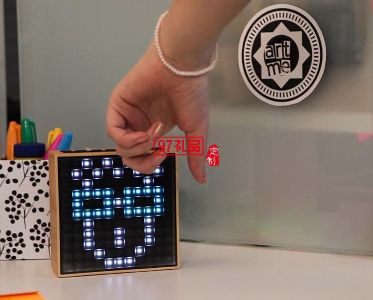智能音箱 时钟 LED像素 闹钟