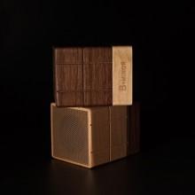 高端实木 时尚品质 巧克力立体音箱 天生一对  可定制logo