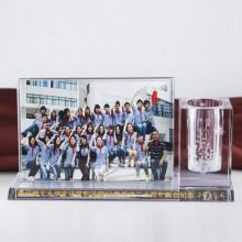 水晶笔筒照片摆件
