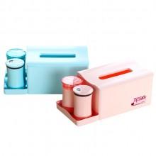 纸巾盒组合套装带棉签筒牙签筒