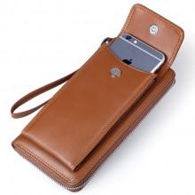 男式真皮手拿包 手机钱包 定制企业LOGO