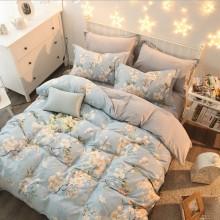 AB版纯棉水晶绒四件套 纯棉印花四件套床上用品双人被套