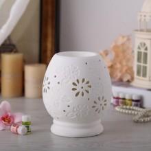 陶瓷白瓷插电香薰灯 精油灯 可调光 透光