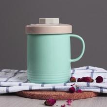 新品低骨瓷带盖茶隔杯创意礼品