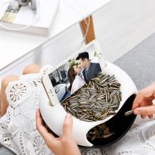 桌面创意懒人垃圾桶塑料双层客厅卧室可置手机果盘瓜子盘