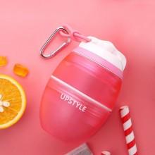 创意儿童吸管杯 韩国可爱水杯 便携塑料杯 随手杯