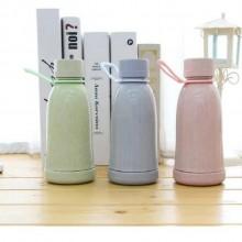 红素 小麦秸秆色水杯 便携随手杯卡通环保水杯水杯 可定制logo
