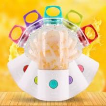 红素2017新款 榨汁机  电动自动搅拌机 充电式榨汁机 可印logo