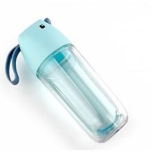 双层塑料杯子 创意便携运动水杯 学生随手杯