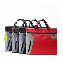 高档商务袋侧拉手提袋文件袋资料袋A4手提袋开会袋