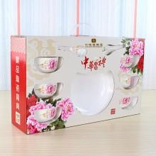 13头青花陶瓷餐具套装 六桂福珠宝定制案例
