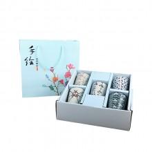 日式和风手绘陶瓷水杯礼盒套装