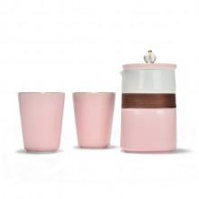 陶瓷茶杯四件套 时尚经典陶瓷杯壶套装可定制logo