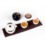便携式旅行功夫茶具套装   陶瓷一壶两杯