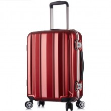 新款磨砂防刮铝框拉杆箱轻便时尚万向轮登机箱